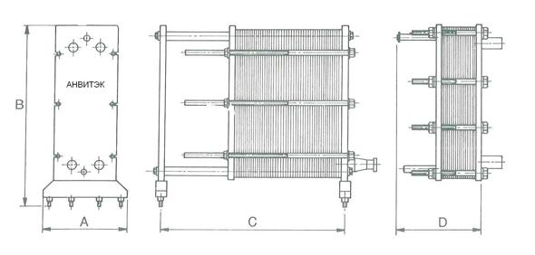 Пластинчатый теплообменник Анвитэк AMX 100 Сургут коэффициент теплопередачи воздушного теплообменника