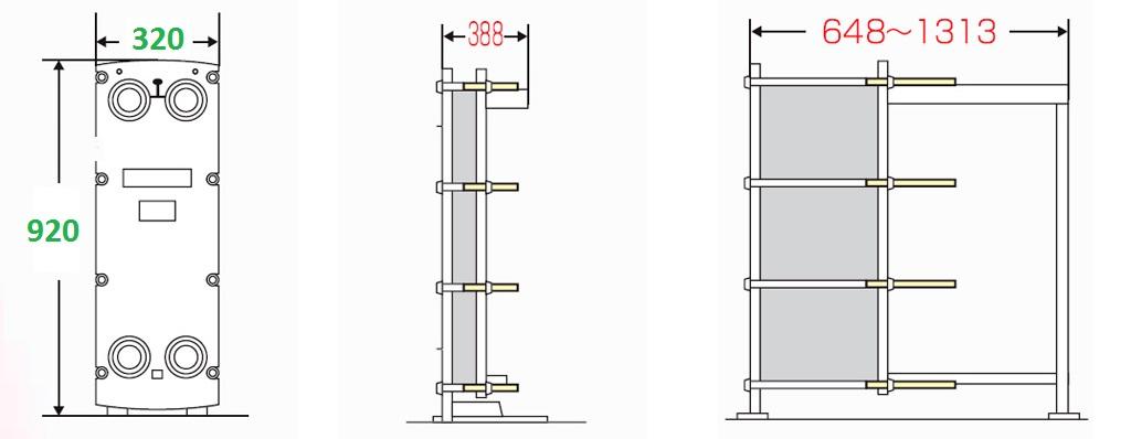 Теплообменник м2 площадь теплообменник вода м6