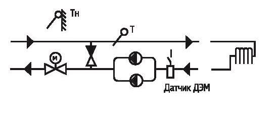 К рассматриваемым одноконтурным системам относятся отдельные контуры отопления (теплых полов), подключенные по...